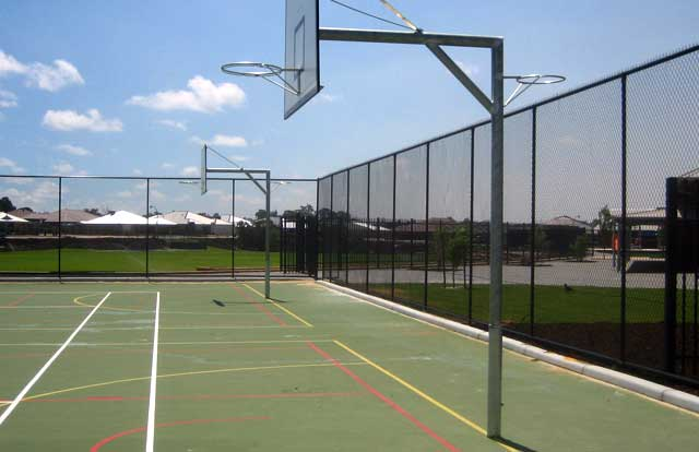 Basketball Court Fence - Chain Wire